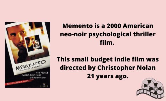 """Thriller """"Memento"""""""