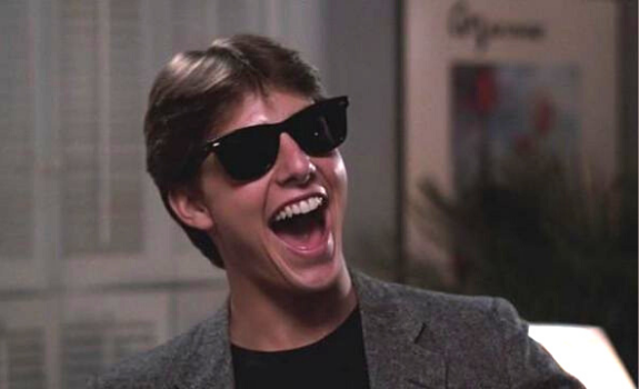 """Tom Cruise starring in """"Risky Business"""""""
